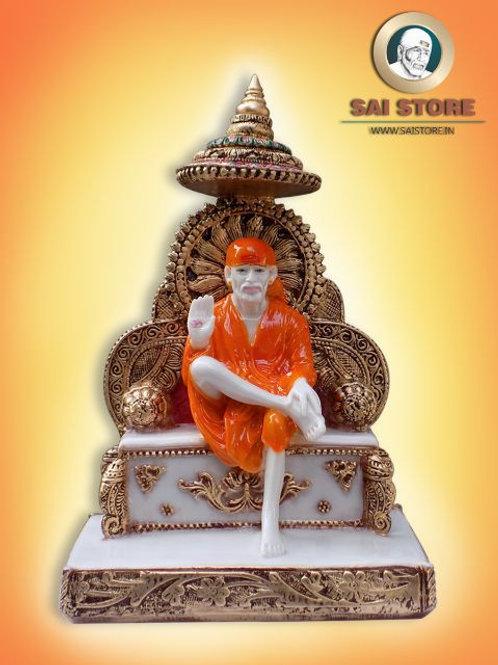 Sai Baba Statue with Sinhasan