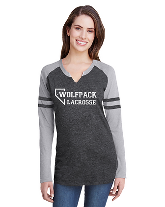 LAT Ladies' Gameday Mash-Up Long Sleeve Fine Jersey T-Shirt