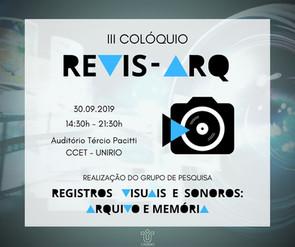 III Colóquio REVIS-ARQ - 2019