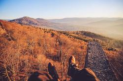 Groetjes vanaf een berg