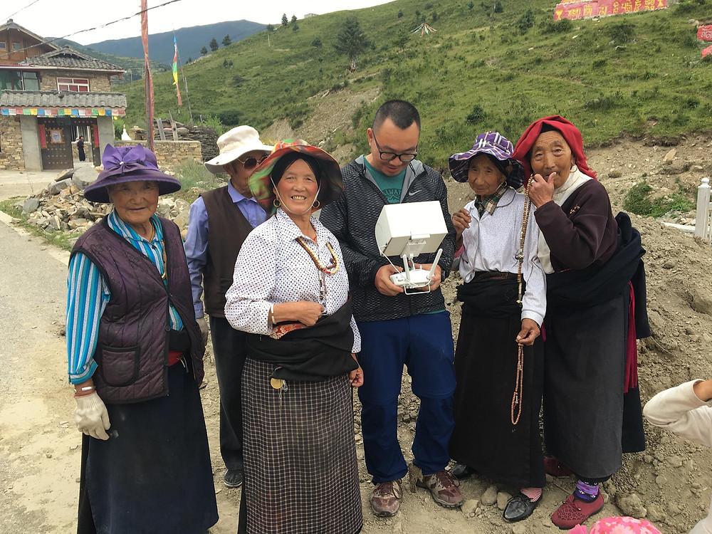 drone at Shangniba Monastery