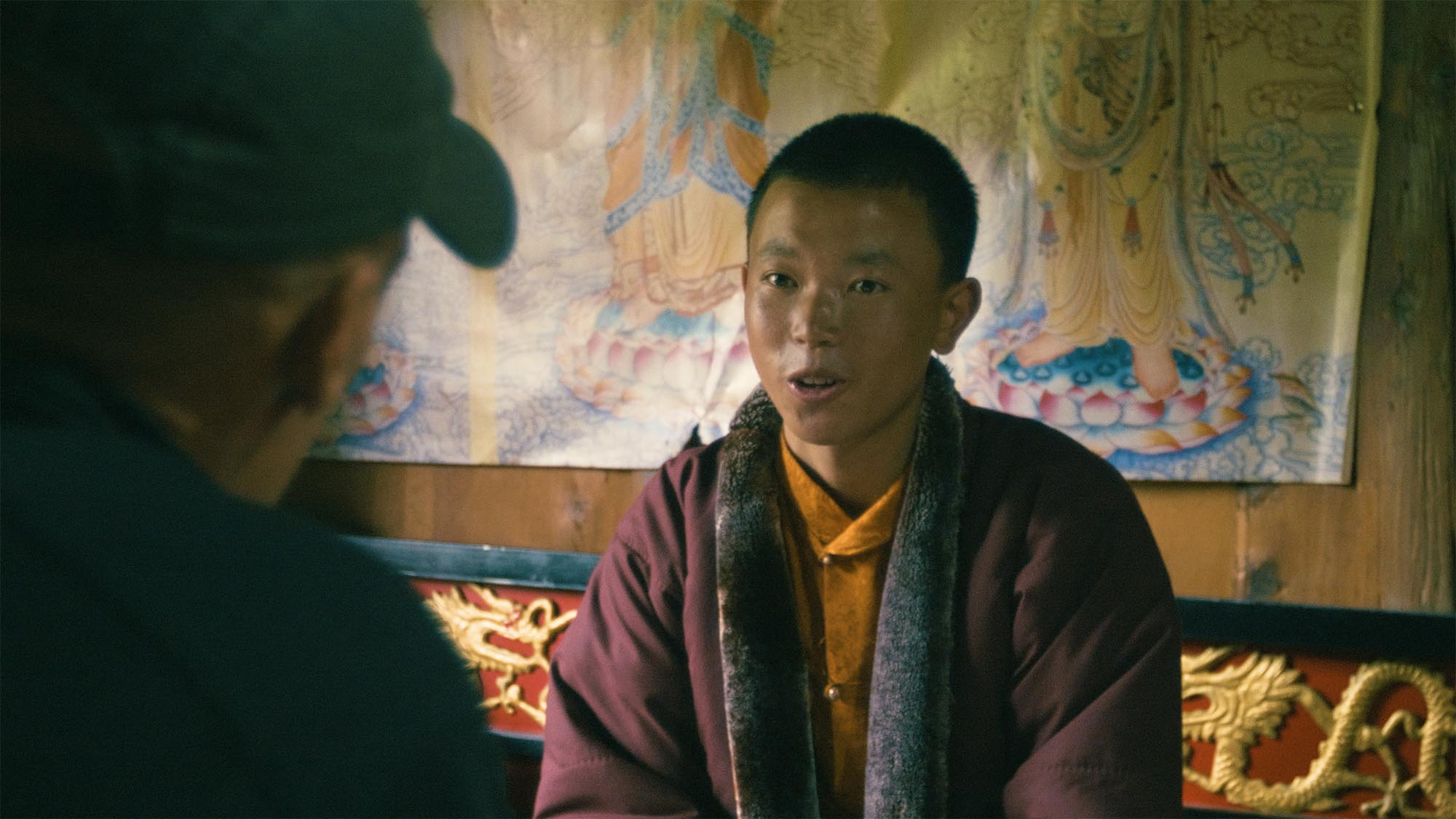 We made friends with this teenage Buddhist monk