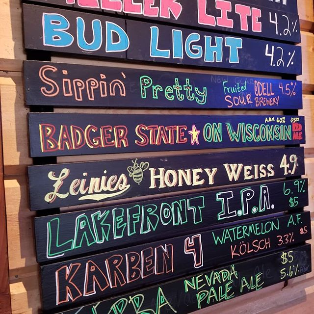 Beers subject to change