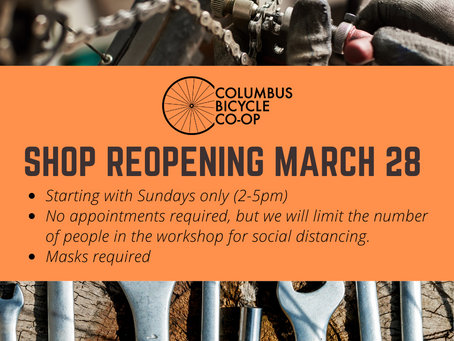 Shop reopening March 28