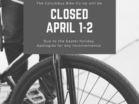 Closed for Easter holiday on April 1st and 2nd