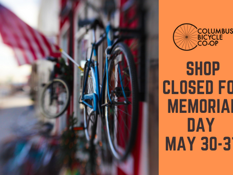 Shop closed for Memorial Day - May 30-31