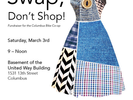 Swap, don't shop! Clothing swap fundraiser on March 3rd