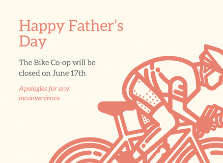 Closed for Father's Day, June 17th