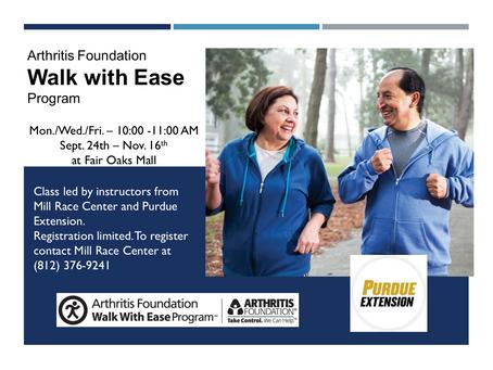Walk with Ease returns in September 2018