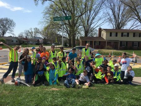 Students work on intersection safety