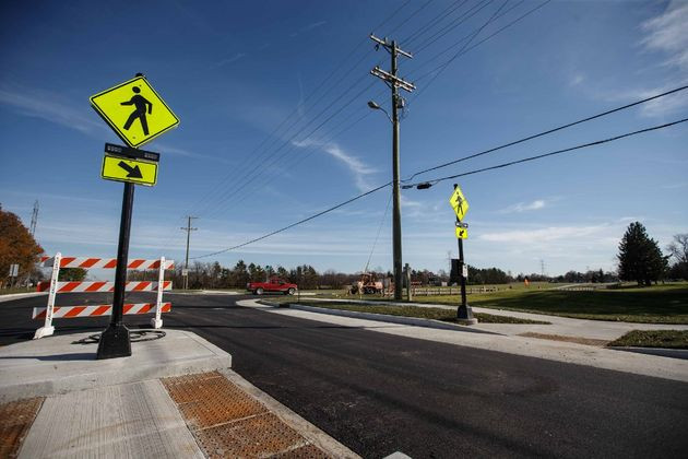 The Republic's photo shows a new crosswalk on Rocky Ford rd