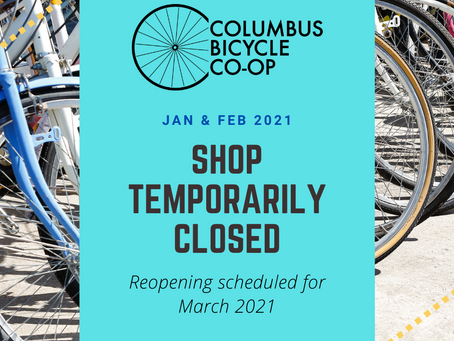 Shop closed temporarily until March 2021