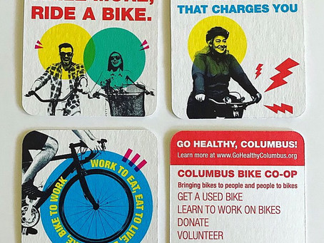 Coasters promote cycling in Columbus