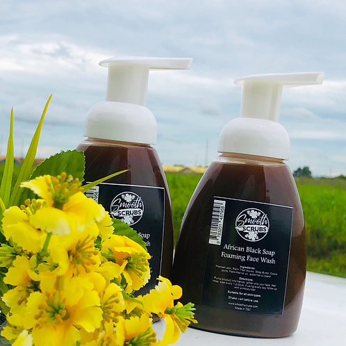 African Black Soap Foaming Face Wash