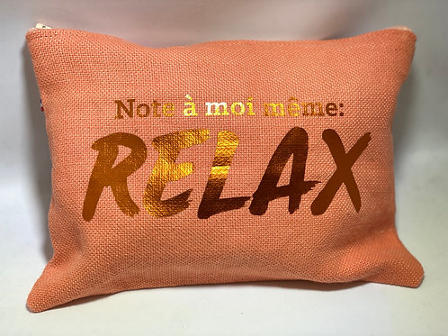 Pochette de sac lin corail «relax»