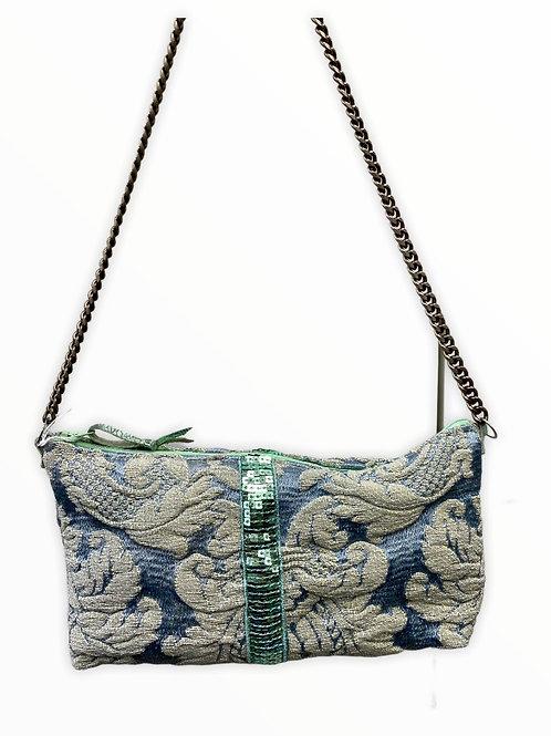 Petit sac baguette tissus d'ameublement vintage