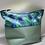 Thumbnail: Grande trousse de toilette verte/ marine