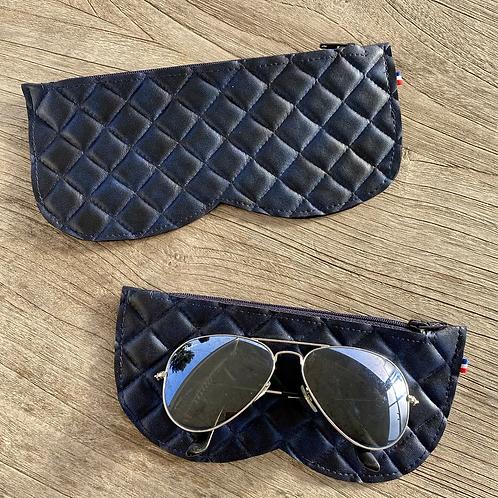 Etui à lunettes en simili taille S ou L