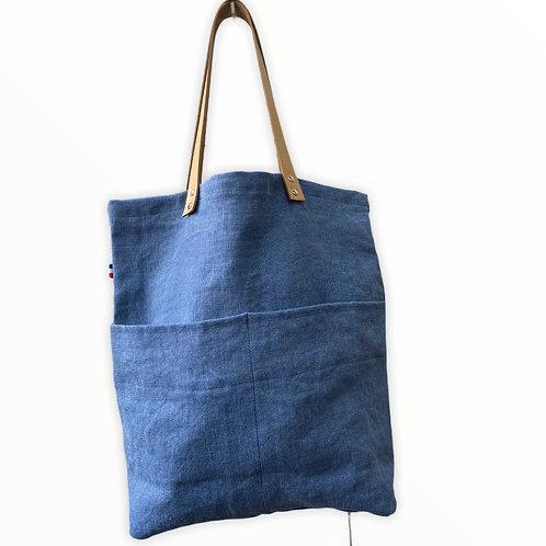 Cabas Maxime lin bleu