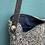 Thumbnail: Petit sac en bandoulière lainage bleu