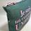 Thumbnail: Pochette de sac lin vert canard unique