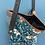 Thumbnail: Petit sac 2 en 1 réversible velour bleu canard et lainage
