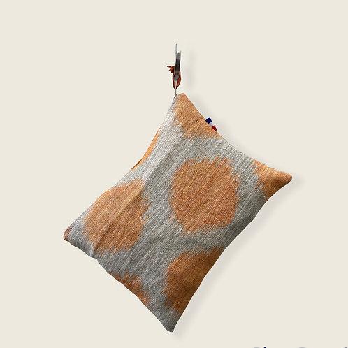 Pochette de sac lin ficelle et orangé