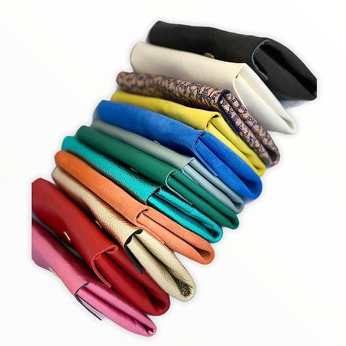 Pochette double CLARA pour carte  cuir