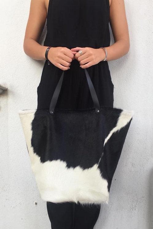 Cabas XL peau vache/cuir