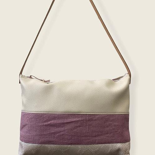 Petit sac trio de matières à porter épaule