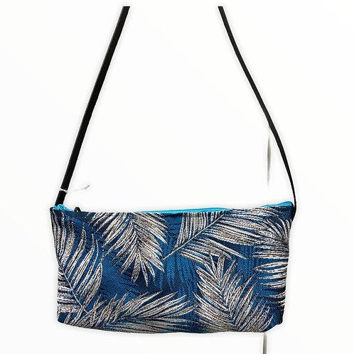 Petit sac baguette toile jungle bleu