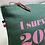 Thumbnail: Pochette humour lin céladon I Survived