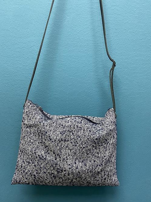 Petit sac en bandoulière lainage bleu
