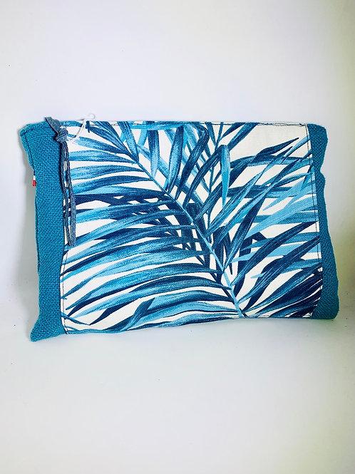 Pochette de sac turquoise palmier