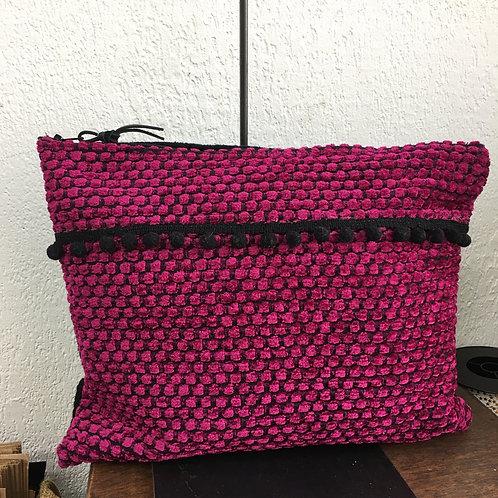 Pochette XL fushia/noir