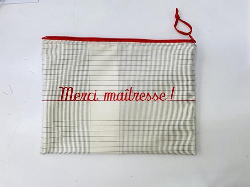 Pochette de sac merci maitresse cahier d'école