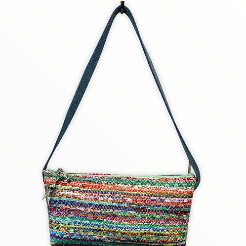 Petit sac baguette simili multicolore