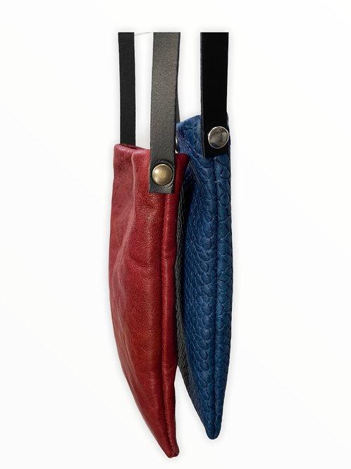 Pochette en bandoulière pour téléphone en cuir