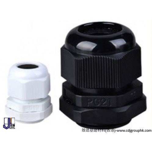 台灣-防水膠索頭連迫母 Plastic Cable Gland-MG16