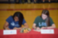 Mone and Mikayla Signing.JPG