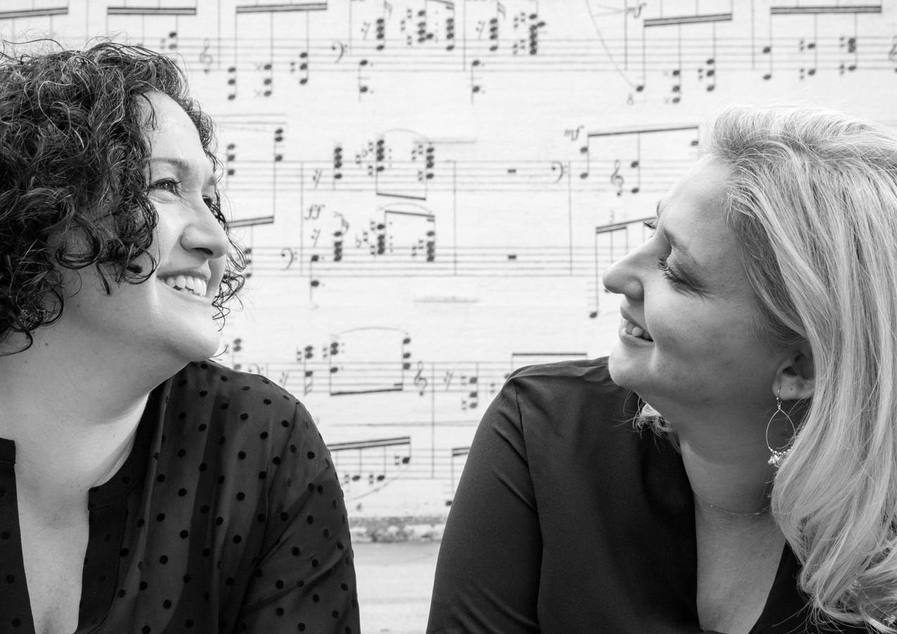Basgoze-Pinto Piano Duo - B&W - Music Wall 2