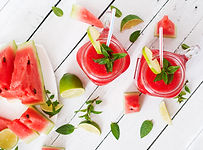 fresh-watermelon-smoothies-with-lime-and