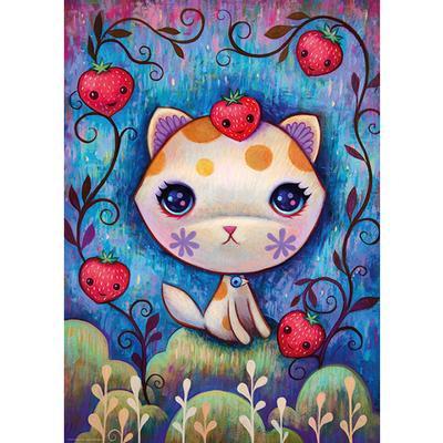 Puzzle 1000pcs - Strawberry Kitty