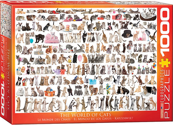 Puzzle 1000pcs - The World of Cats