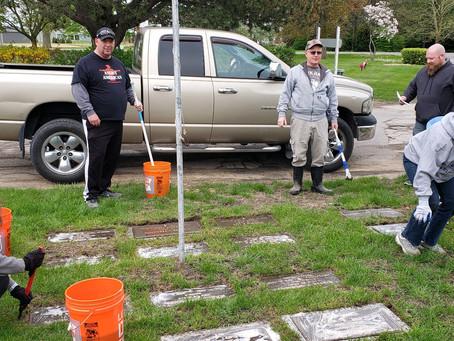 Veterans Headstones Cleaning