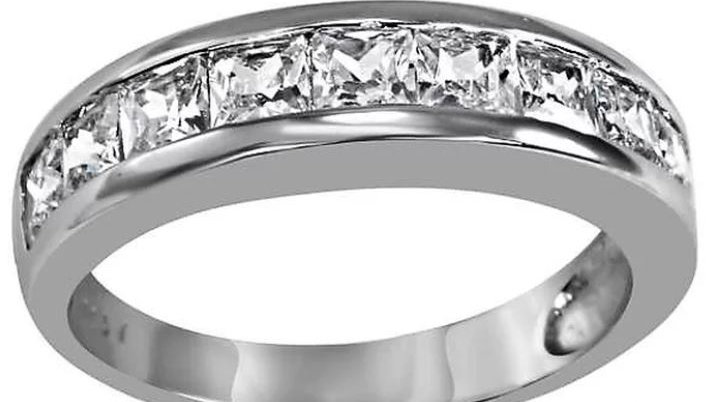 Princess Cut Band Ring