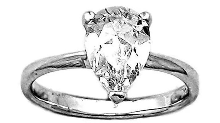 Pear Cut Solitaire Ring