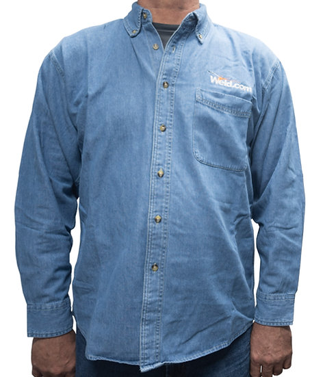 Men's Long Sleeve Denim Work Shirt