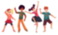 little-kids-dancing-expressively-cartoon