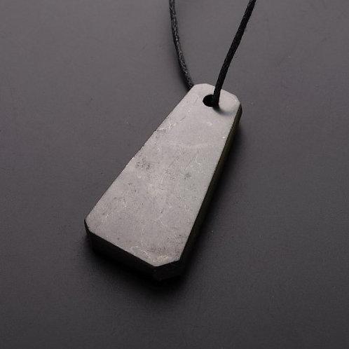 """Shungite """"Trapezium Thick"""" pendant from Russia"""